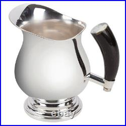 NEW Plata Lappas Silver Plated Pitcher With Horn Handle