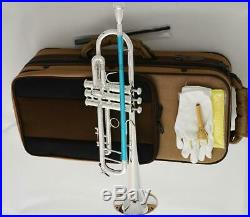 NEW Pro 805 TaiShan Silver Plated Trumpet Horn B-flat 4-7/8 Bell With Case