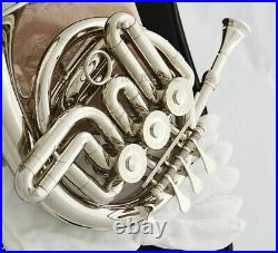 NEW Silver nickel Piccolo Mini French horn B-Flat Tone with case