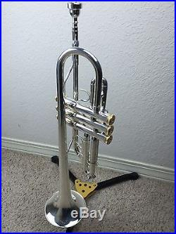 NEW Wisemann DTR-500SP New C Silver Trumpet with Gold Trim Great Value Horn