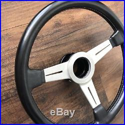 Nardi Classic 360mm Vintage Steering Wheel. With Ring, No Horn Silver Spoke FET