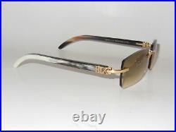 New Agapé Model Premium Ox Horn Buff Sunglasses With 55 mm Premium IOB Lenses