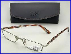 New Folding Reading Persol Eyeglasses 2401-V 1058 / 1034 Silver with Green or Horn