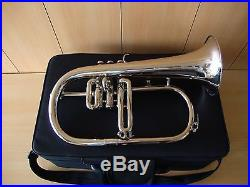 New Silver Bb Flugel Horn With Free Hard Case+Mouthpiece