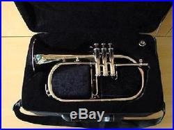 New Silver Bb Flugel HornEQUISITE OSWAL! With Free Hard Case+Mouthpiece