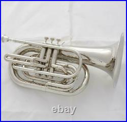 Newest Marching Baritone Siver nickel Horn Bb Keys with Case