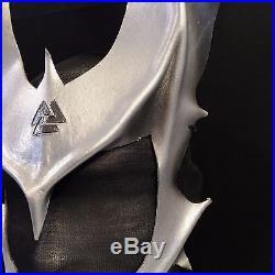 ODIN HORNS Odin Mask Silver Cosplay Horns with Vauknut Symbol LARP Halloween
