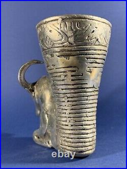 Persian Silver Bronze MIX Rhyton Depicting Ram With Large Intact Horns Ca 500bc