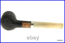 Pipe The Stump Group 1 Sandblasted With Real IN Silver And Mouthpiece IN Horn