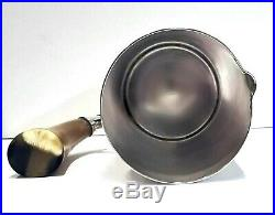 Plata Lappas Silver Plated Martini Pitcher With Natural Horn Handle 4D x 8¾H