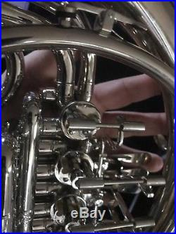 Pro Silver Plated Double French HornPossibly OPUS USA Model 6038N With Hardcase