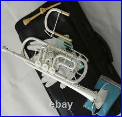 Professional C Key Rotary Trumpet Silver Plated c Horn With Soprano Key