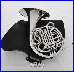 Professional Double French Horn Silver Nickel Plated F/Bb 4 Keys With Case