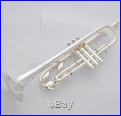Professional Heavy Detachable Bell Trumpet Silver horn Monel Valve New With Case
