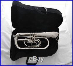 Professional JINBAO Silver Nickel Marching Euphonium Horn B-Flat Key With Case