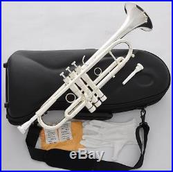 Professional JINYIN Heavy Silver Trumpet Horn Monel Valve With 2 Mouthpiece Case