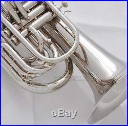 Professional Newest Marching Baritone Siver nickel Horn with Case
