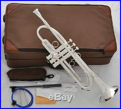Professional Silver Plated new Trumpet Streamline Design Horn With Case