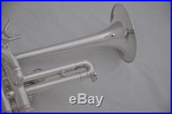 Professional new Piccolo Trumpet Bb/A soprano horn Silver horn with case