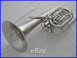 Professional silver nickel plated Bb key JinBao Baritone Piston horn with case