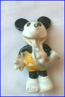 RARE Mickey Mouse With Silver Horn(White Shoe Musician) 1930's Japan