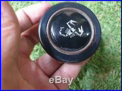 RARE Vintage ABARTH SICUREZZA Crest With Silver Ring Horn button