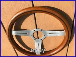 Rare Thing Nardi 33 Classic Wood Polish Silver With Horn Button Old Car Things