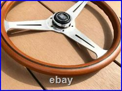 Rare Thing Nardi Classic 37 Wood Polish Silver With Horn Button Old Car Things