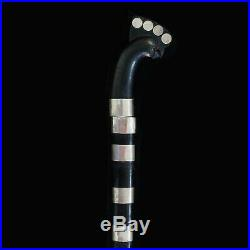 Rare Timor sword Buffalo horn sheath and handle with silver rings and coins