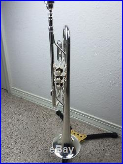 Return Wisemann DTR-500SP New C Silver Trumpet with Gold Trim Great Horn