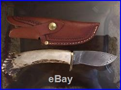 SILVER STAG Knife DAMASCUS Unique CROWN STAG SERIES TWIST with Sheath