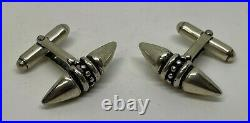STERLING SILVER STEER HORN CUFFLINKS with Antique Finish /Handmade & Brand New