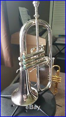 Schilke Flugelhorn 1040FL with ProTec multi horn pro Case! Bach 5AFL mouthpiece