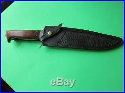 Sean Austin Massive Custom Handmade Bowie Knife With Leather Sheath