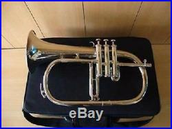 Silly Choice Silver Bb Flugel HornSAI MUSICAL! With Free Hard Case+Mouthpiece