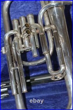 Silver Boosey & Hawkes Tenor Horn Eb with Hard Case