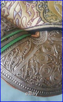 Silver Dagger Knife Jambiya Khanjar Bedouin with Exquisite fitted belt