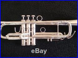 Silver Plated Holton ST-306 MF Horn Professional Trumpet with Hard Case
