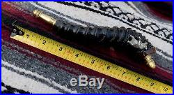 Springbok powder horn with Sterling silver standing grizzly bear/Patch knife