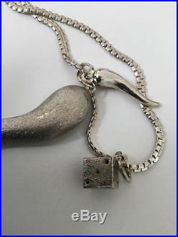 Sterling Silver Necklace With Horn Pendant
