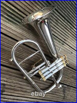 Stomvi Master #5981 Bb Flugel Horn -Silver With Copper Bell Stunning Condition