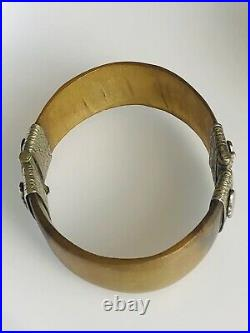 Stunning Handmade Bull Horn Bangle with Solid Silver Clasp
