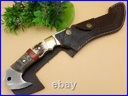 Stunning Handmade D2 Steel Hunting Knife/bowie With Stag Antler Handle
