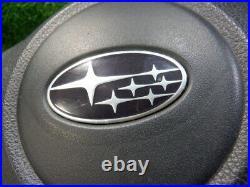 Subaru Exiga Ya5/4 Genuine Steering Black/Silver With Horn Pad No Inflators