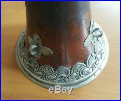 Tibetan Telescoping Horn with Silver Metal Embellishments