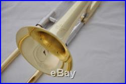 Top new Silver nickel Mini Trombone Slide Bb Trumpet Horn with Case