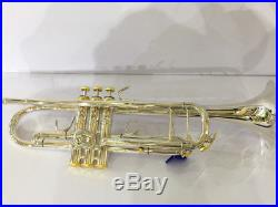 Top new silver plated Bb trumpet horn with mouthpiece case 4-7/8 bell