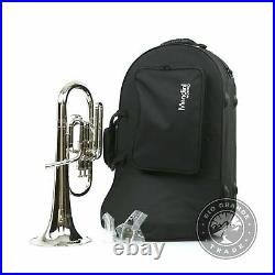 USED Mendini Cecilio MAH-N+92D E Flat Alto Horn with Pistons in Nickel