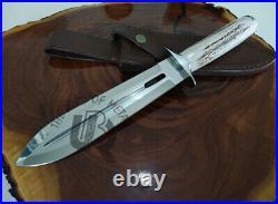 Ubr Custom Handmade D2-tool Steel Hunting Dagger Knife With Stag Horn Handle