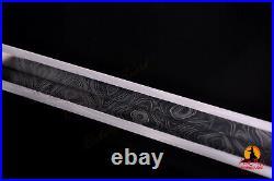 Unitary Han Sword Silver-plated Brass Fittings Lapacho with Sheath Buffalo Horn